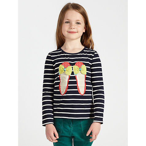 Buy John Lewis Girl Shoes Long Sleeve Top, Navy Online at johnlewis.com
