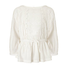 Buy John Lewis Girl Woven Tunic, Cream Online at johnlewis.com