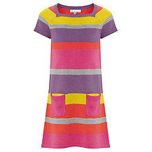 Buy John Lewis Girl Striped Knitted Dress, Multi Online at johnlewis.com