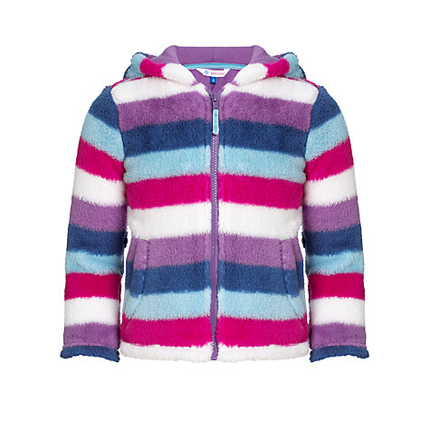 Buy John Lewis Girl Striped Fluffy Fleece, Multi Online at johnlewis.com
