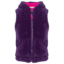 Buy John Lewis Girl Teddy Fleece Gilet, Purple Online at johnlewis.com