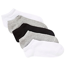 Buy John Lewis Girl Trainer Socks, Pack of 5, Multi Online at johnlewis.com
