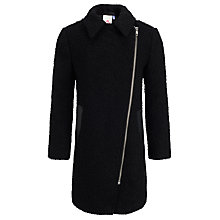 Buy John Lewis Girl Asymmetric Zip Jacket, Black Online at johnlewis.com