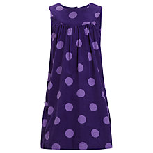 Buy John Lewis Girl Spotted Pinafore, Purple Online at johnlewis.com