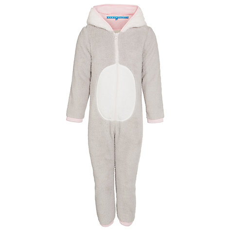 Buy John Lewis Girl Mouse Fleece Onesie, Grey Online at johnlewis.com