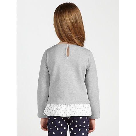Buy John Lewis Girl Long Sleeve Sweater with Polka Dot Trim, Grey Online at johnlewis.com