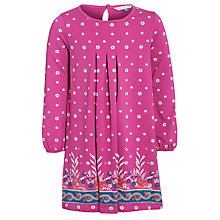 Buy John Lewis Girl Jersey Border Dress, Pink Online at johnlewis.com