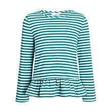 Buy John Lewis Girl Stripe Peplum Top Online at johnlewis.com