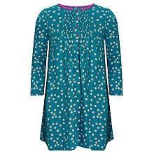Buy John Lewis Girl Spotted Twill Dress, Blue Online at johnlewis.com