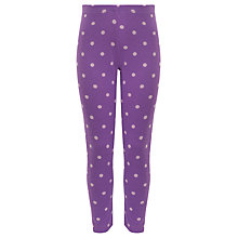 Buy John Lewis Girl Purple Spot Leggings, Purple Online at johnlewis.com