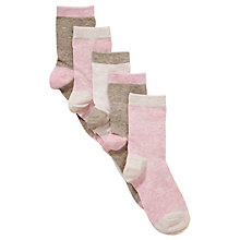Buy John Lewis Girl Ankle Socks, Pack of 5, Multi Online at johnlewis.com