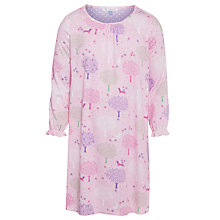 Buy John Lewis Girl Tree Long Sleeve Tree Nightdress, Pink Online at johnlewis.com