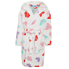 Buy John Lewis Girl Butterfly Dressing Gown, Cream Online at johnlewis.com