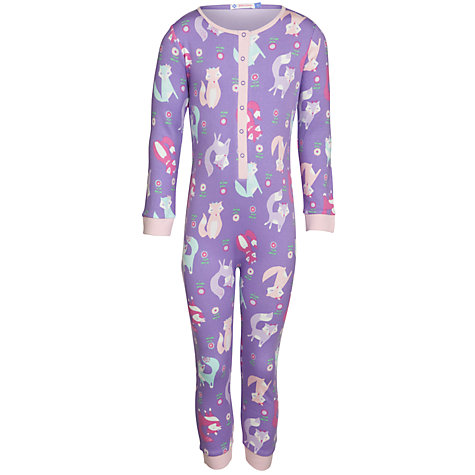 Buy John Lewis Girl Fox Onesie, Purple Online at johnlewis.com