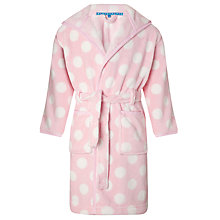 Buy John Lewis Girl Spotted Robe, Pink Online at johnlewis.com