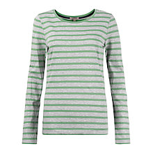 Buy Jigsaw Retro Striped Jersey Top, Apple Online at johnlewis.com