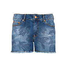 Buy Mango Frayed Denim Shorts Online at johnlewis.com