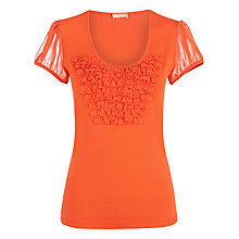 Buy Planet Eyelash Trim Top, Orange Online at johnlewis.com
