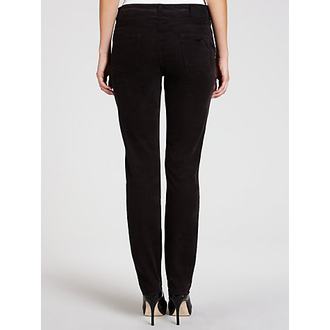 Buy Armani Jeans Corduroy Slim Leg Trousers, Black Online at johnlewis.com