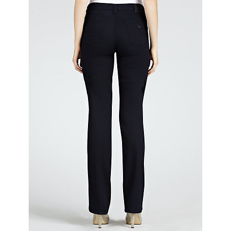 Buy Armani Jeans Power Stretch Straight Leg Jeans, Blue Online at johnlewis.com