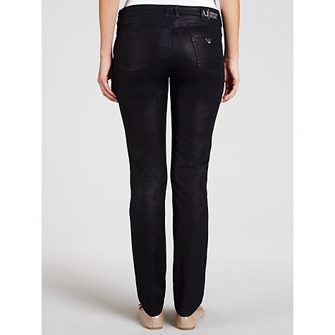 Buy Armani Jeans Metallic Skinny Jeans, Navy Online at johnlewis.com