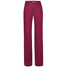 Buy Armani Jeans Power Stretch Straight Leg Jean, Fuschia Online at johnlewis.com