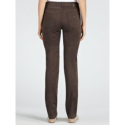 Buy Armani Jeans Washed Satin Slim Leg Jeans, Chocolate Online at johnlewis.com