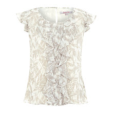 Buy Jacques Vert Leaf Print Blouse, Cream Online at johnlewis.com