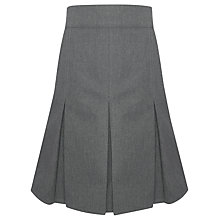 Buy John Lewis Girls' Cotton Pleated School Skirt, Grey Online at johnlewis.com