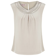 Buy Jacques Vert Cornelli Blouse, Cream Online at johnlewis.com