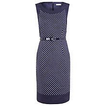 Buy Precis Petite Spot Print Linen Dress, Blue Online at johnlewis.com