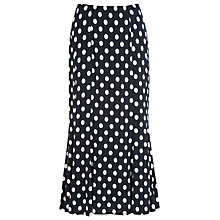 Buy Precis Petite Polka Dot Jersey Skirt, Blue Online at johnlewis.com
