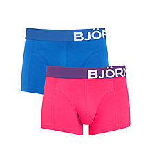 Buy Bjorn Borg Single Big Logo Trunks, Pack of 2 Online at johnlewis.com