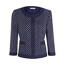 Buy Precis Petite Linen Multi Spot Print Jacket, Multi Online at johnlewis.com