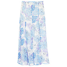 Buy Jacques Vert Summer Floral Skirt, Blue Online at johnlewis.com