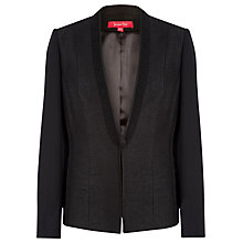 Buy Jacques Vert Chiffon Trim Jacket, Black Online at johnlewis.com