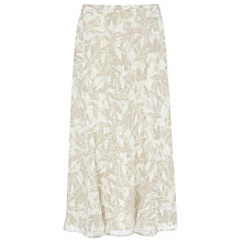 Buy Jacques Vert Leaf Print Skirt, Cream Online at johnlewis.com