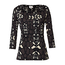 Buy allegra by Allegra Hicks Dahlia Top, Animal Cocoa Online at johnlewis.com