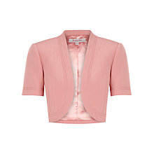 Buy Jacques Vert Braided Trim Bolero, Coral Online at johnlewis.com