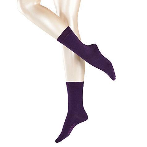 Buy Falke Soft Merino Ankle Socks, Prune Online at johnlewis.com
