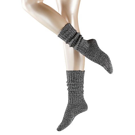 Buy Falke Anklet Bootsocks, Black Online at johnlewis.com