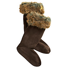 Buy Joules Fur Welly Socks, Saddle Online at johnlewis.com