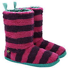 Buy Joules Stripe Slipper Socks, Ruby Online at johnlewis.com