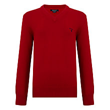 Buy Gant Boys' Long Sleeve V-Neck Jumper Online at johnlewis.com