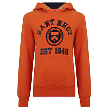 Buy Gant Boys' College Hoodie, Orange Online at johnlewis.com
