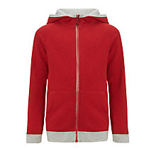 Buy Kin by John Lewis Boys' Funnel Neck Hoodie, Red Online at johnlewis.com
