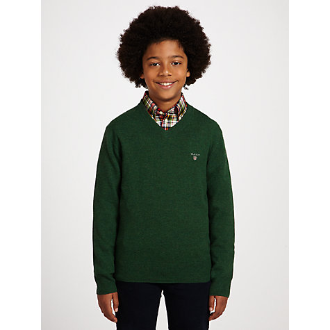 Buy Gant Boys' Lambswool V-Neck Jumper Online at johnlewis.com
