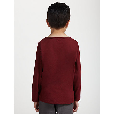 Buy Kin by John Lewis Boys' Long Sleeve Pocket Top, Red Online at johnlewis.com