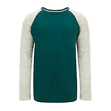 Buy Kin by John Lewis Long Sleeve Raglan Top, Teal/Grey Online at johnlewis.com