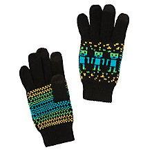 Buy John Lewis Boy Robot Touch Gloves, Black Online at johnlewis.com